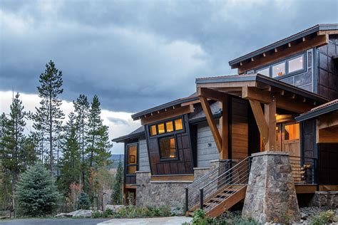 Contemporary Open Floor Plans Custom Home In Keystone Co Modern Mountain Architecture