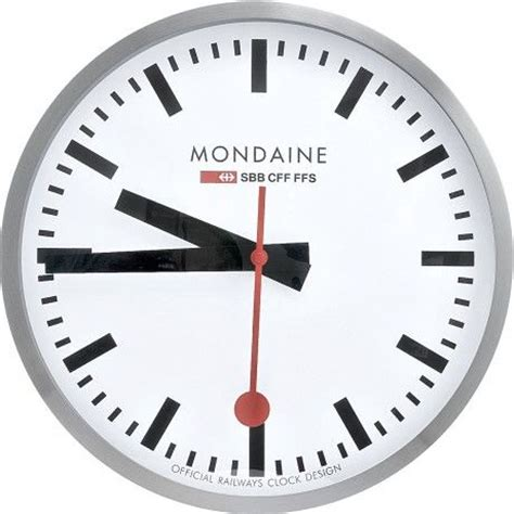 mondaine wall clock mondaine classic swiss railway clock chrome fantastic