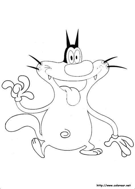 imagenes de jack para colorear dibujos para colorear de oggy y las cucarachas