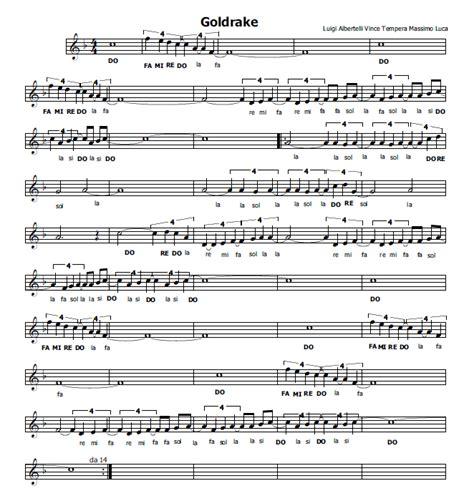testo goldrake musica e spartiti gratis per flauto dolce goldrake