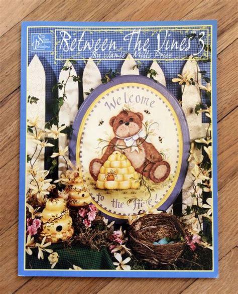 folk art pattern books between the vines 3 tole painting craft book retro