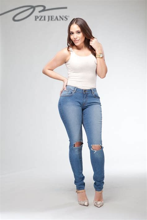 curvy en jeans the julia distressed skinny pzijeans denim women