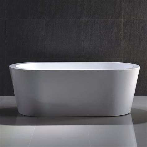 home depot freestanding bathtubs acri tec marseille seamless freestanding bathtub the home depot canada