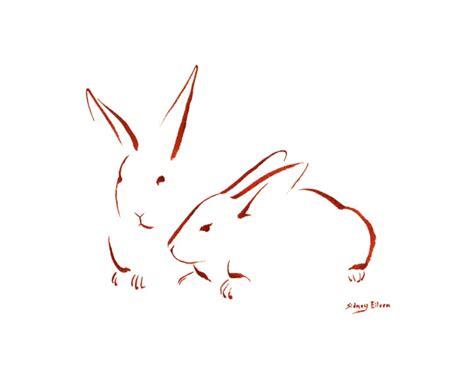 minimalist rabbit tattoo minimalist two bunnies 1 by sidney eileen