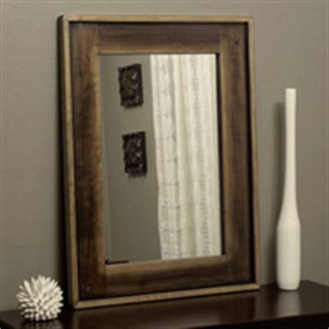 rustic wood framed mirror distressed from kennethdante on etsy