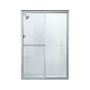 lowes sliding shower doors shop sterling deluxe 54 375 in to 59 375 in w x 70 in h