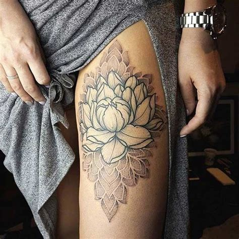 lotus tattoo on thigh best 25 flower thigh tattoos ideas on pinterest side of