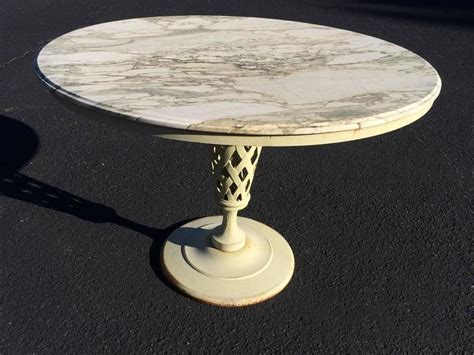 Marble Top Patio Table Marble Top Iron Patio Table And Chairs For Sale At 1stdibs