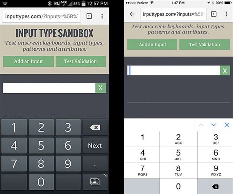 html input pattern ios iphone ios presenting html 5 keyboard for postal co
