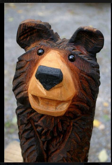 carved bear  jeff gottfried beary stuff pinterest