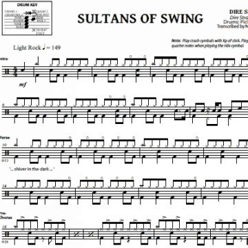 fingerstyle tutorial sultans of swing comfortably numb pink floyd drum sheet music