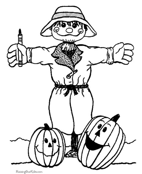 halloween scarecrow coloring pages 003