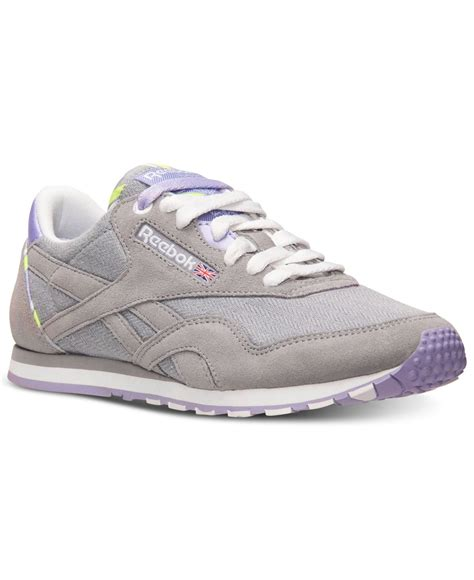 reebok sneakers for reebok s classic slim jacquard casual sneakers