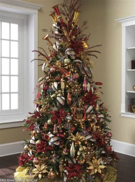 christmas tree decorations 2014 red and gold 2015 2016