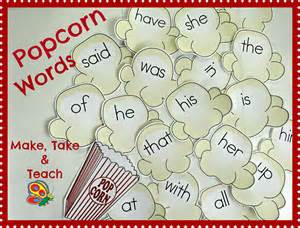 5 Letter Words Popcorn sight words archives page 3 of 6 make take teach