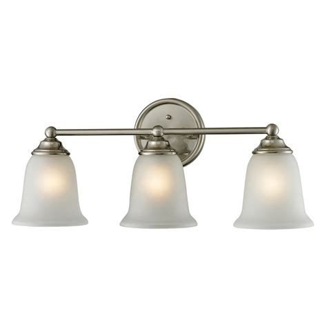 Polished Nickel Bathroom Lights Shop Westmore Lighting 3 Light Landisville Brushed Nickel Led Bathroom Vanity Light At Lowes