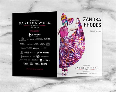 design fashion program fashion week el paseo zandra rhodes runway show program