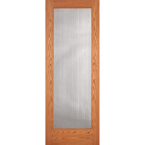 oak interior doors home depot feather river doors 36 in x 80 in reed woodgrain 1 lite