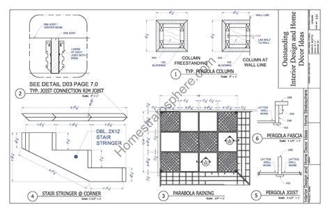 pergola plans pdf home design www almosthomedogdaycare free deck plan with pergola download full pdf blueprint
