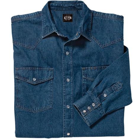Western Denim Shirt denim western shirt sleeve key apparel