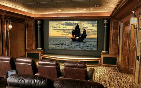 home theater room decorating ideas small home theater room ideas dvd wall shelves twin brown