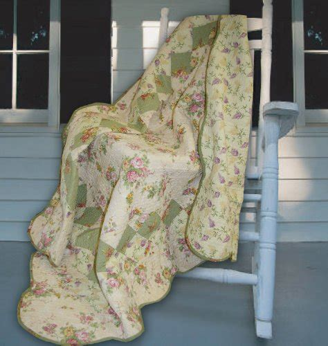 Quilted Patchwork Throw - greenland home bliss ivory quilted patchwork throw
