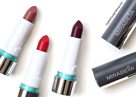 Mirabella Lipstick Swatches makeup review swatches mirabella colour vinyl lipstick in icy violet
