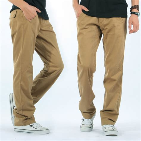comfortable pants for men mens casual loose solid color cotton cargo pants outdoor