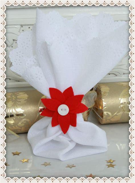 pattern for felt poinsettia napkin ring threadbare creations diy poinsettia napkin rings