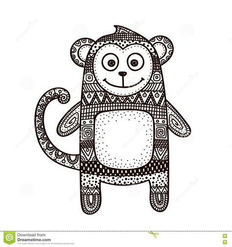 how to draw a doodle monkey monkey doodle vector vector illustration cartoondealer