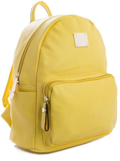 Faux Leather Plain Backpack plain leather backpack backpacks