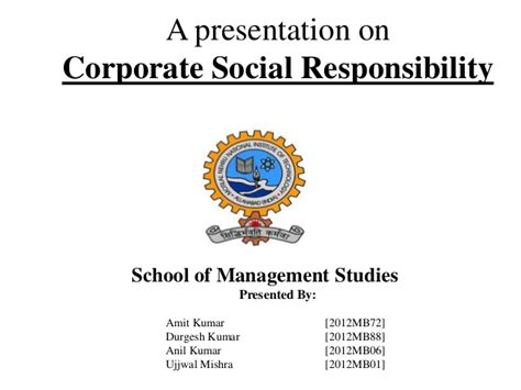 Social Responsibility In Business Boston Mba by Corporate Social Responsibility