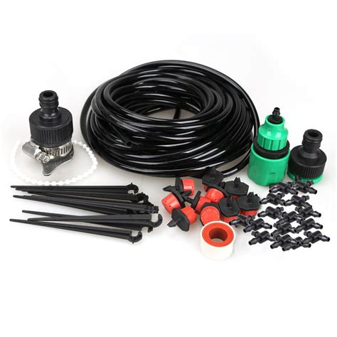 micro water drip irrigation system hose kit home