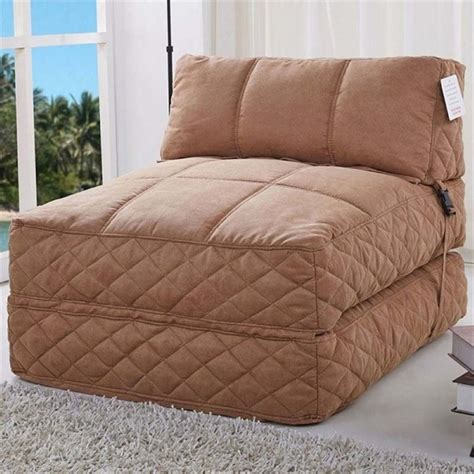 convertible bean bag bed bowery hill convertible bean bag chair bed in cobblestone