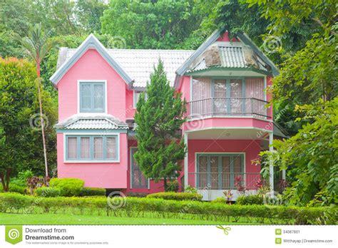 pink haus pink house stock image image 34067601