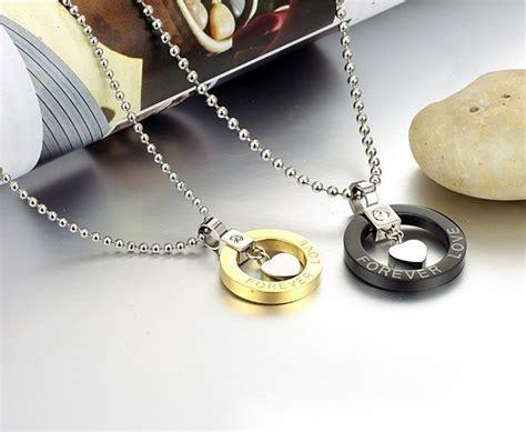 cadenas de oro para novios collares pareja oro corazon amor dijes amistad novios