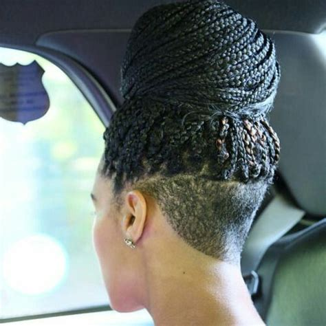 braid style with shaved back 682 best images about box braids locs twists on