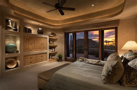 Southwestern Designs bedroom in phoenix arizona home designed by design directives llc
