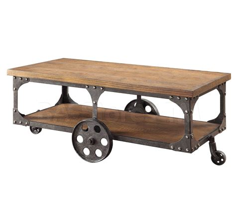 Rustic Wood And Metal Coffee Table 376 00 Rustic Wood Metal Coffee Table Coffee Side