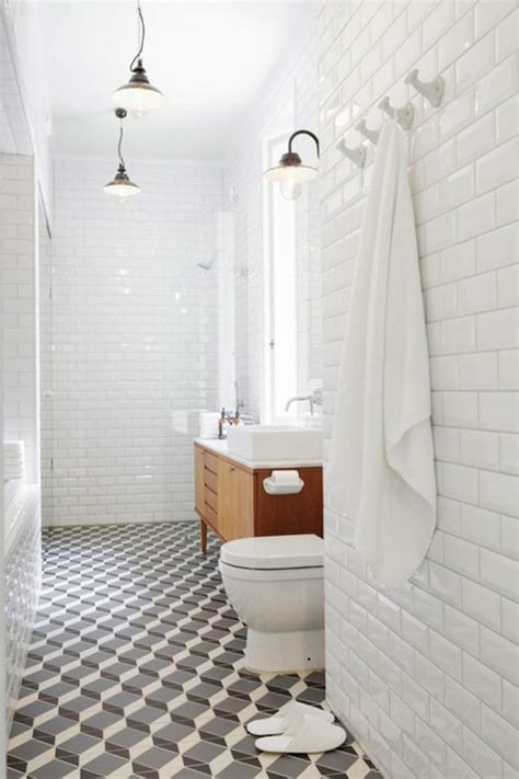 subway tile bathroom floor ideas beveled subway tile design ideas