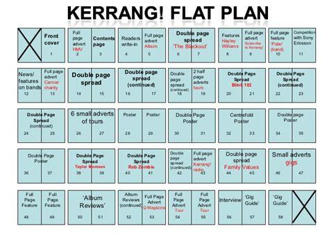 plan magazine flat plan kerrang