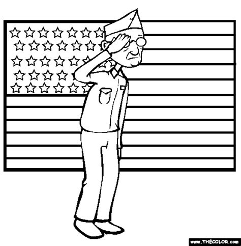 Veterans Day Coloring Page Free Veterans Day O Veterans Day Coloring Page