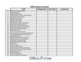 New Business Checklist Template by Office Move Checklist Template Excel Besttemplates123