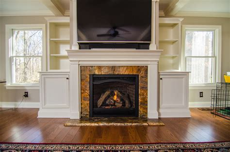 Brown Marble Fireplace by Rainforest Brown Granite Fireplace Surround Traditional