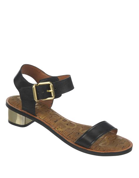 sam edelman shoes sam edelman leather sandals in black lyst