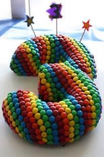 m m rainbow birthday cake