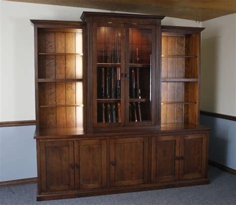 Handmade Gun Cabinet - custom gun cabinets gunsafe amish custom gun cabinets