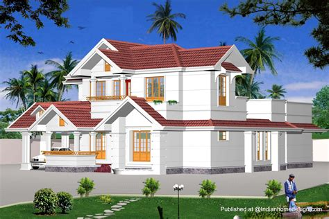 home design for views indian model house plans exterior views home design