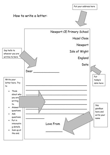 Letter Writing Template By Gjpacker84 Teaching Resources Tes Letter Template Tes