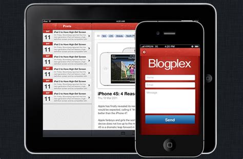 blogplex iphone and ios app ui design templates